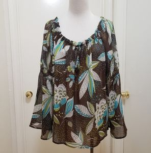 3for$20 see through floral blouse